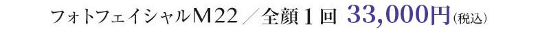 フォトフェイシャルM22/全顔1回 40,000円(税抜)